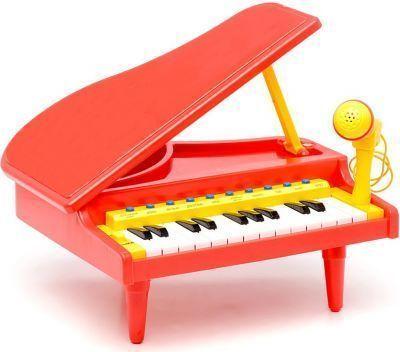 Музыкальные игрушки пианино портативная колонка караоке-микрофон купить в интернет-магазине Tibamba